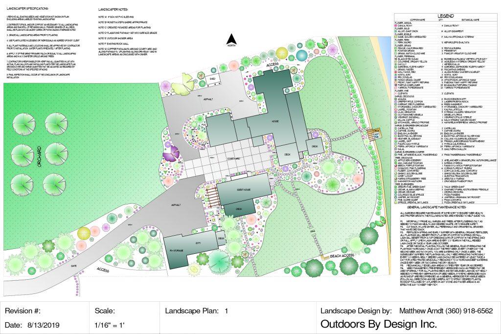 Landscape cad design